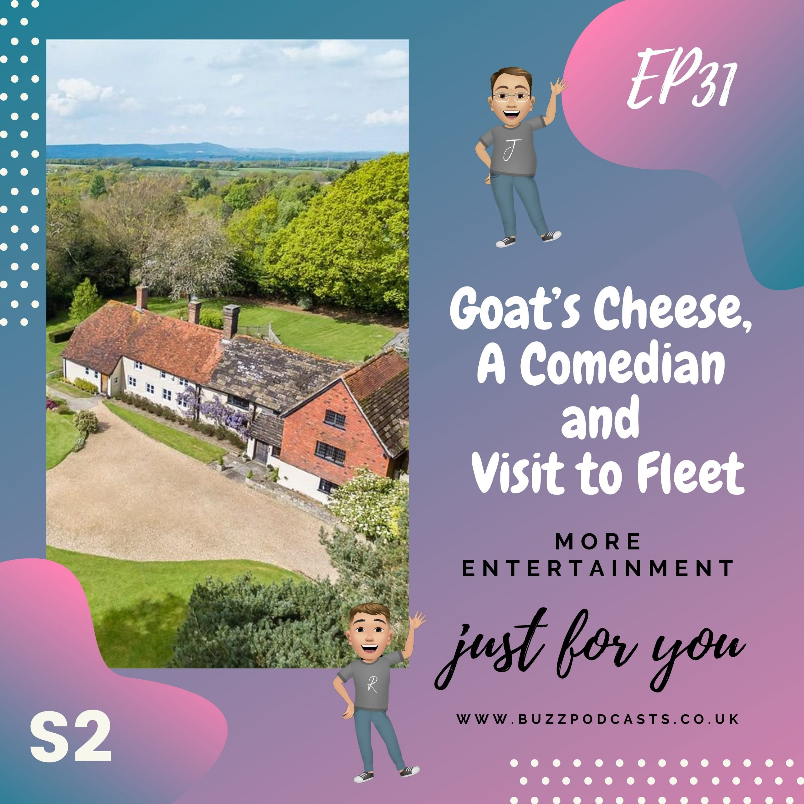 Goat's Cheese, A Comedian and Visit to Fleet