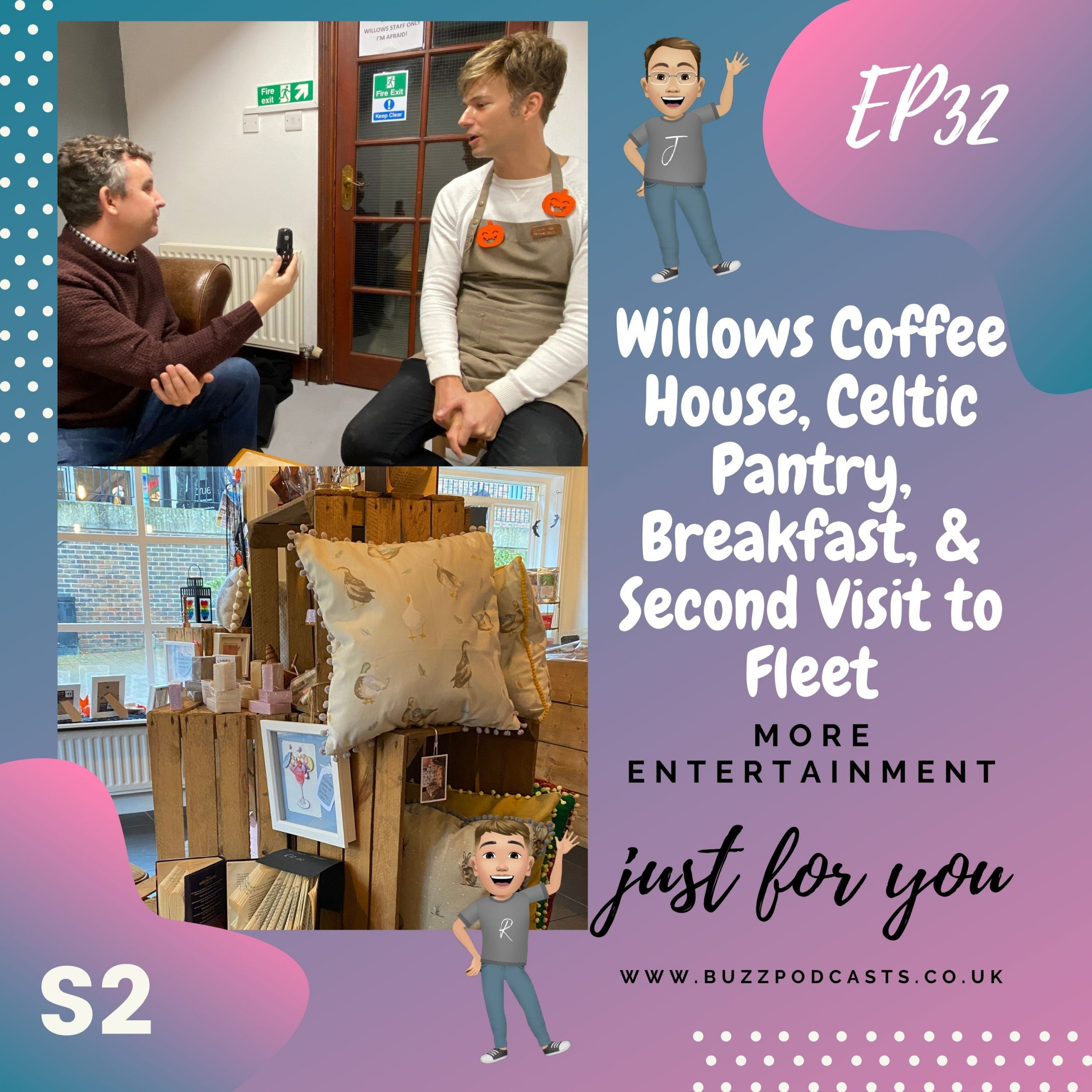 Willows Coffee House, Celtic Pantry, Breakfast, & Second Visit to Fleet