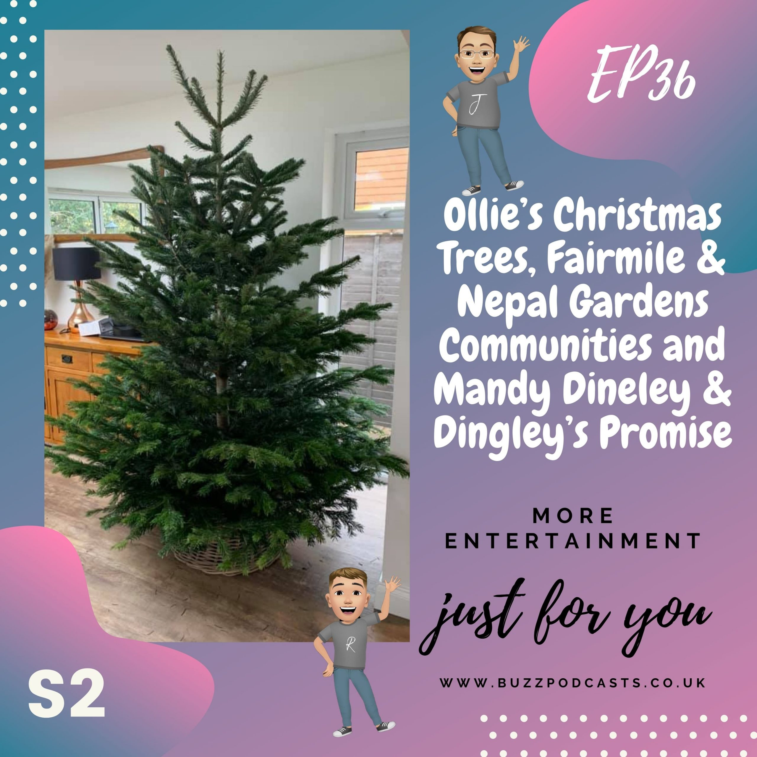 Ollie's Christmas Trees, Fairmile & Nepal Gardens Communities and Mandy Dineley & Dingley's Promise