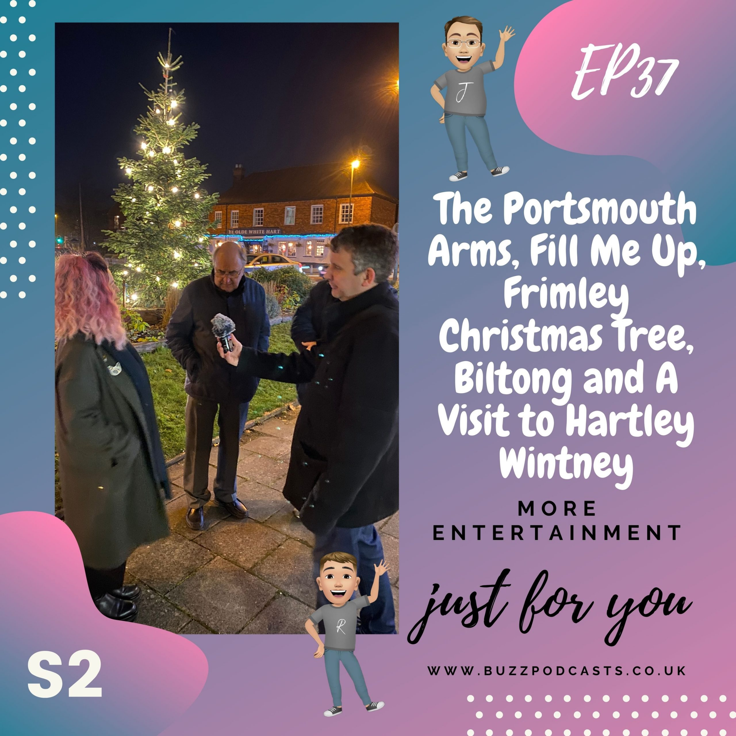 The Portsmouth Arms, Fill Me Up, Frimley Christmas Tree, Biltong and A Visit to Hartley Wintney